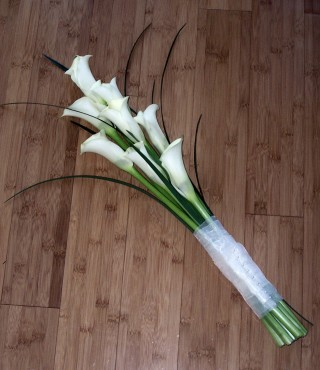 Brides Bouquet with Calla Lilies